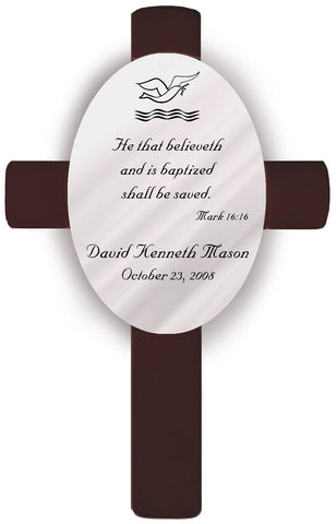 Personalized Baptism Crosses - B2 - Crosses - AGiftPersonalized