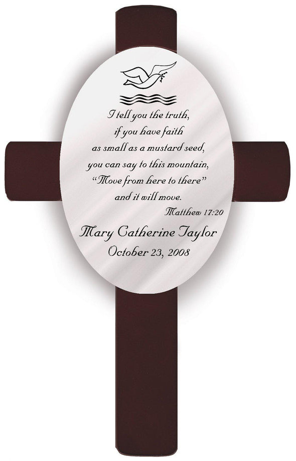 Personalized Baptism Crosses - B3 - JDS
