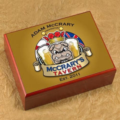 Personalized Cigar Humidor - Bulldog - Cigars and Humidors - AGiftPersonalized