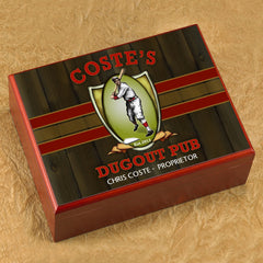 Personalized Cigar Humidor - Dugout - Cigars and Humidors - AGiftPersonalized