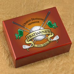 Personalized Cigar Humidor - Golf - Cigars and Humidors - AGiftPersonalized