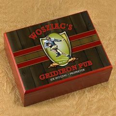 Personalized Cigar Humidor - Gridiron - Cigars and Humidors - AGiftPersonalized