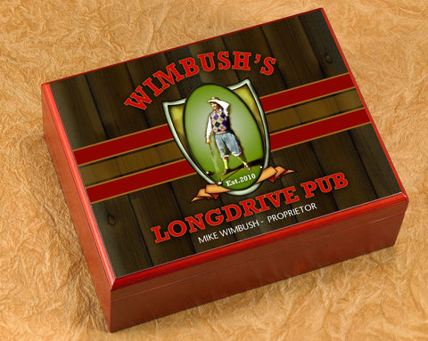 Personalized Cigar Humidor - Longdrive - Cigars and Humidors - AGiftPersonalized