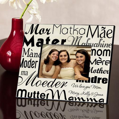 Personalized Mom in Translation Frame - Parchment -  - Gifts for Mom - AGiftPersonalized