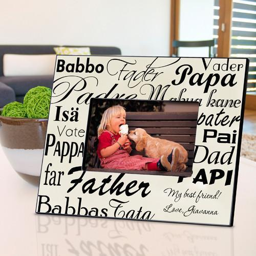 Personalized Dad in Translation Frame - Parchment