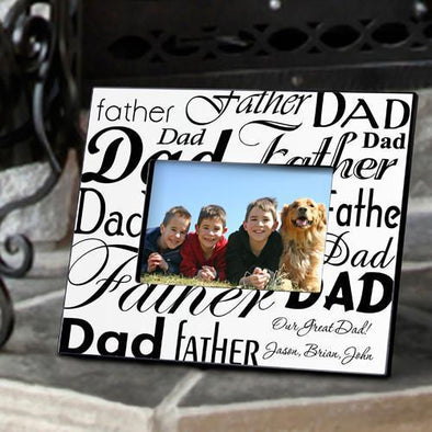 Personalized Dad-Father Frame - Black/White -  - JDS
