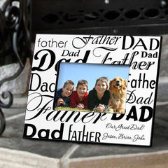 Personalized Dad-Father Frame - Black/White -  - Gifts for Dad - AGiftPersonalized