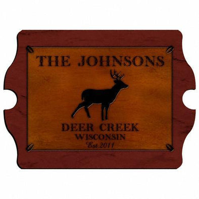 Personalized Signs - Cabin Decor - Cabin Series - Stag - JDS