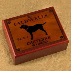Personalized Humidors - Cabin and Lake House Series - Labrador - Cabin Decor - AGiftPersonalized
