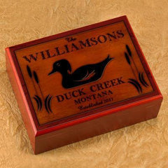 Personalized Humidors - Cabin and Lake House Series - Duck - Cabin Decor - AGiftPersonalized