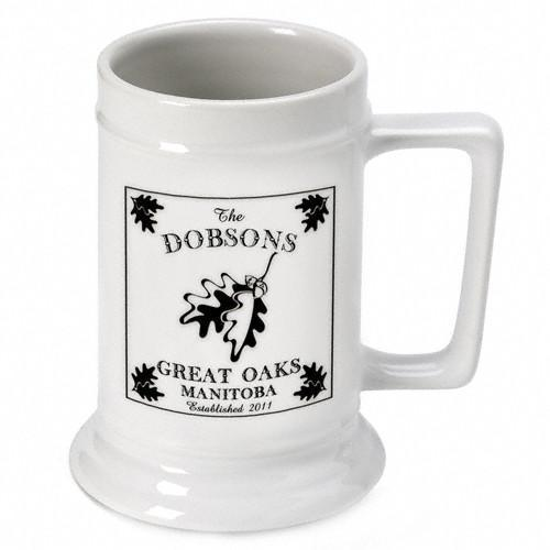Personalized Lake House - Cabin Beer Mugs and Steins - Oak - JDS