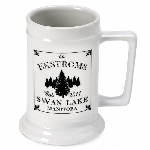 Personalized Lake House - Cabin Beer Mugs and Steins - Spruce - JDS