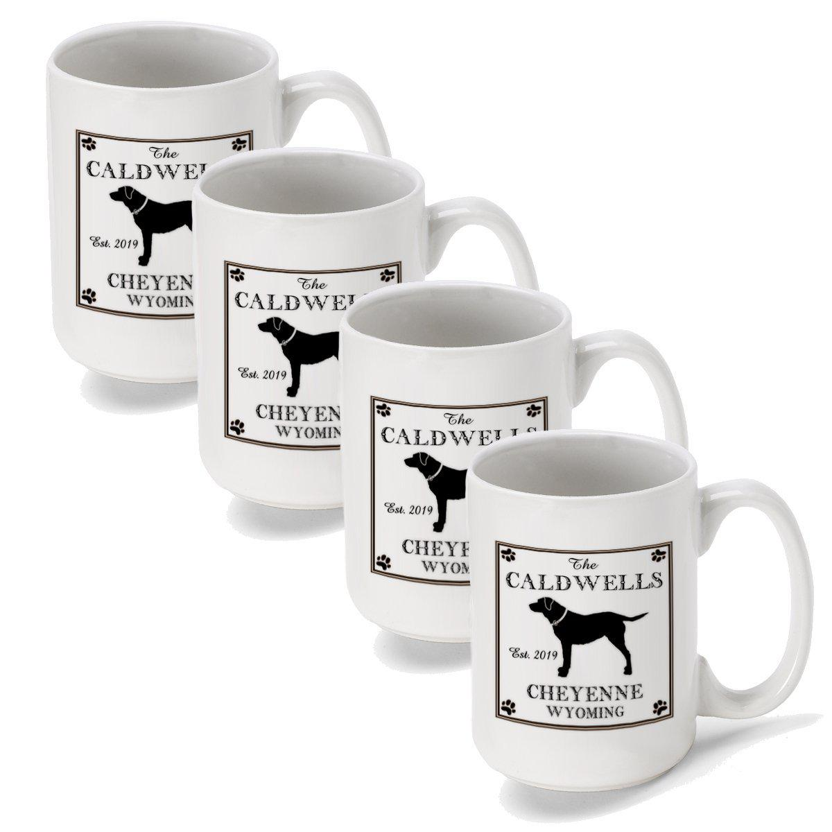 Set-of-4-Personalized-Lake-House-and-Cabin-Coffee-Mugs