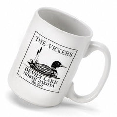 Personalized Lake House - Cabin Coffee Mug - Loon - Cabin Decor - AGiftPersonalized