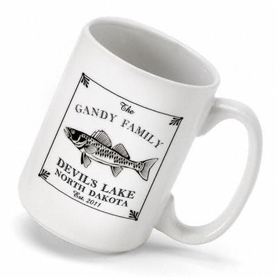 Personalized Lake House - Cabin Coffee Mug - Walleye - Cabin Decor - AGiftPersonalized