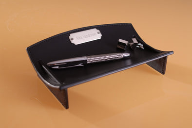 Personalized Leather Desk Caddie -  - JDS