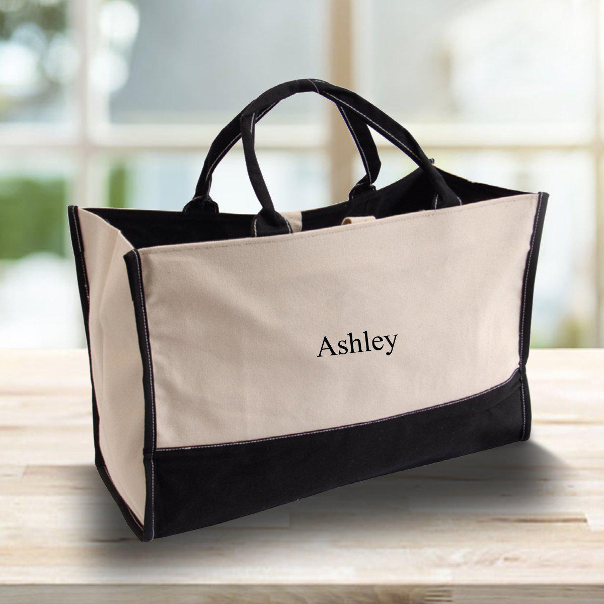 Personalized Tote Bag - Canvas - Embroidered - Summer Bag
