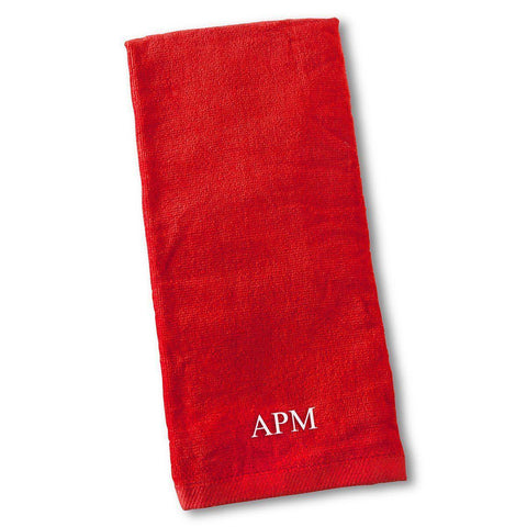 Personalized Golf Towel - Red - Sporting & Gaming Gifts - AGiftPersonalized