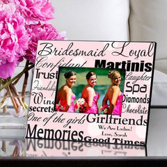 Personalized Bridesmaid Picture Frame - PinkDots - Frames - AGiftPersonalized