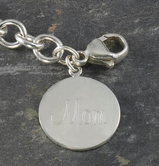 Personalized Sterling Silver Photo Charm Bracelet -