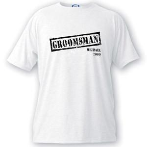 Personalized Stamp Series Groomsman T-Shirt