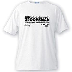 Personalized T Shirts - Text Series - Groomsmen T Shirt - Groomsmen Gifts -  - T-Shirts - AGiftPersonalized
