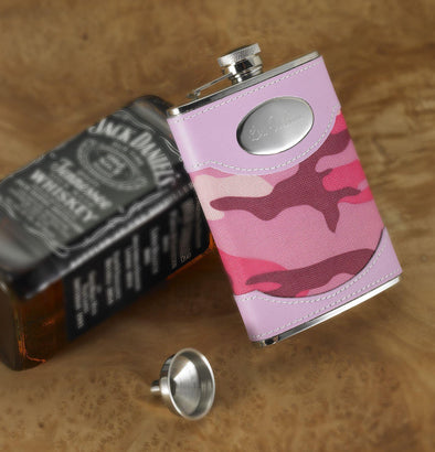 Personalized Pink Camouflage Flask -  - JDS