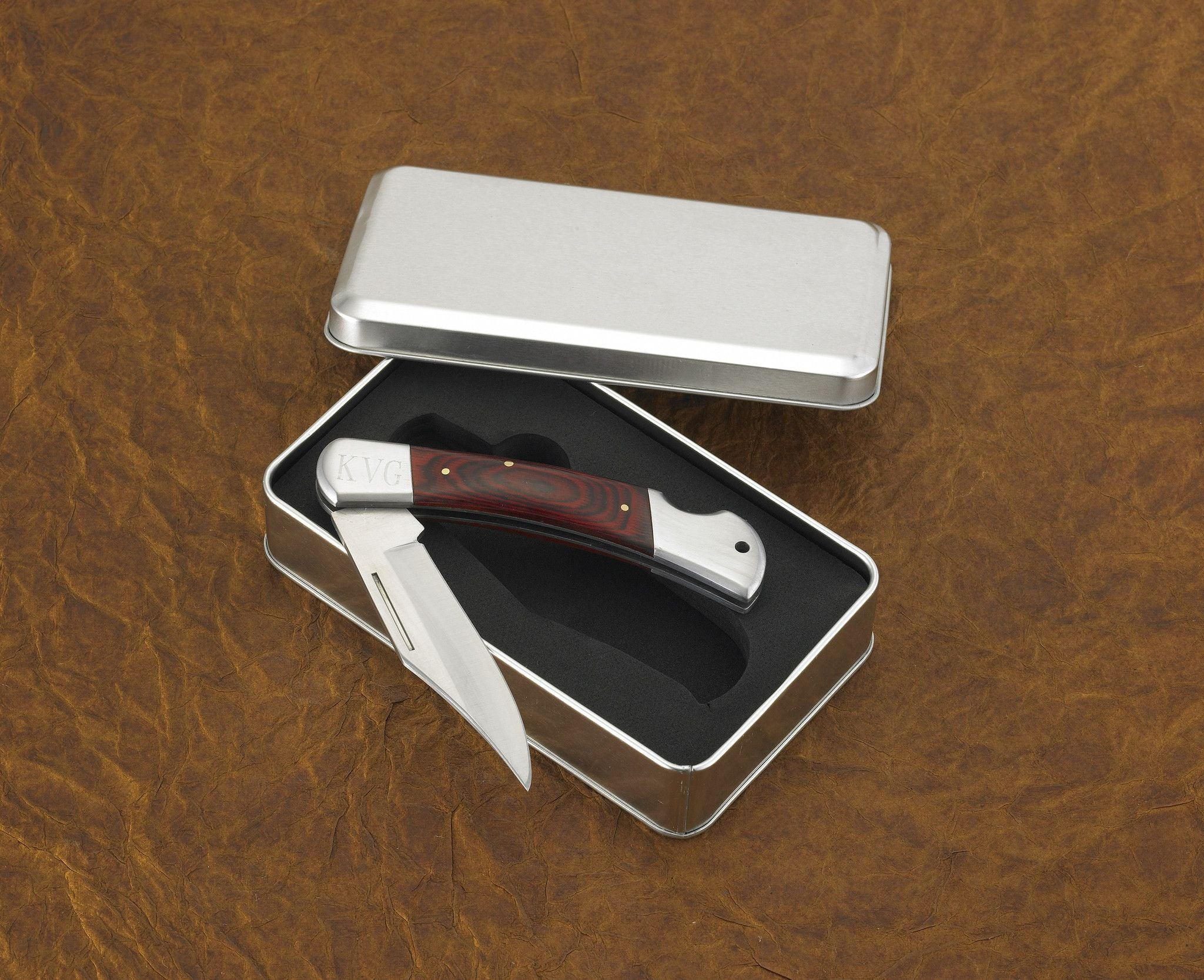 Personalized Pocket Knife - Yukon - Wood Handle - Lock Back