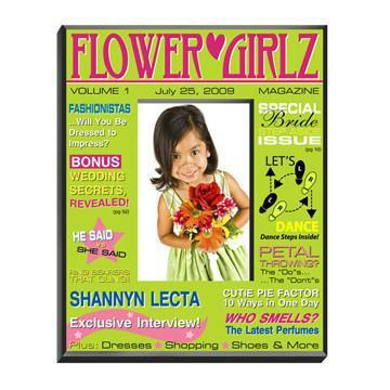 Personalized-Flower-Girl-Magazine-Frame-Green