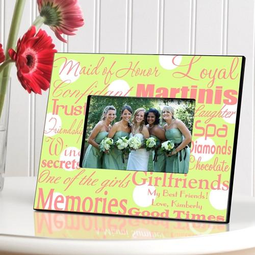 Personalized Maid of Honor Picture Frame - Green Dot - JDS