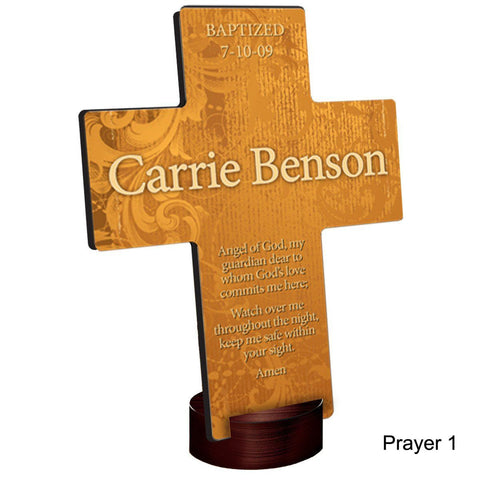 Personalized Gardens of Grace Cross with Stand - Prayer1 - Crosses - AGiftPersonalized