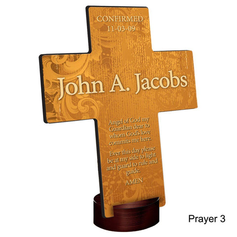 Personalized Gardens of Grace Cross with Stand - Prayer3 - Crosses - AGiftPersonalized