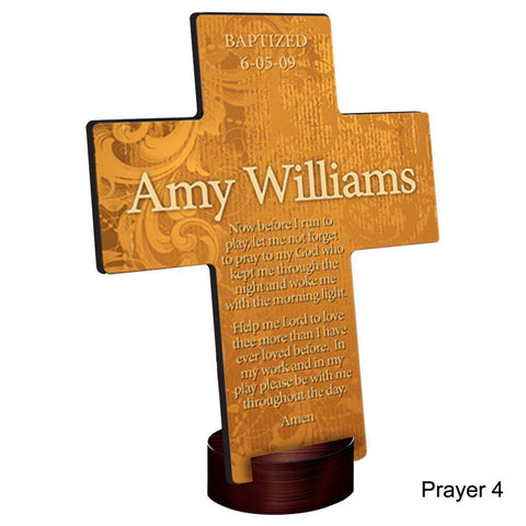 Personalized Gardens of Grace Cross with Stand - Prayer4 - Crosses - AGiftPersonalized
