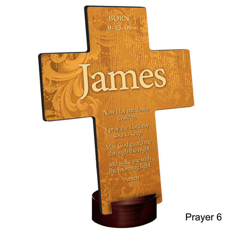 Personalized Gardens of Grace Cross with Stand - Prayer6 - Crosses - AGiftPersonalized