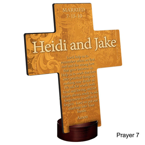 Personalized Gardens of Grace Cross with Stand - Prayer7 - Crosses - AGiftPersonalized