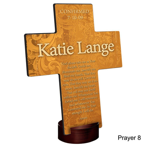 Personalized Gardens of Grace Cross with Stand - Prayer8 - Crosses - AGiftPersonalized