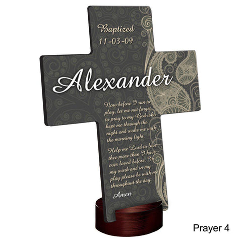 Personalized Paisley Praise Cross with Stand -  - Crosses - AGiftPersonalized