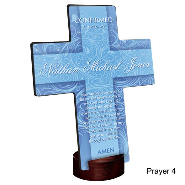 Personalized Twinkling Star Cross with Stand - Prayer4 - JDS