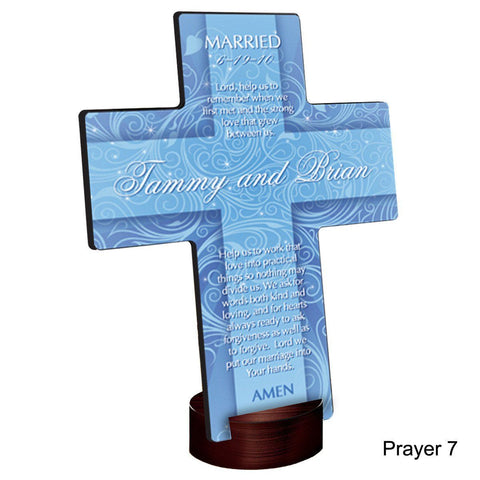 Personalized Twinkling Star Cross with Stand - Prayer7 - Crosses - AGiftPersonalized