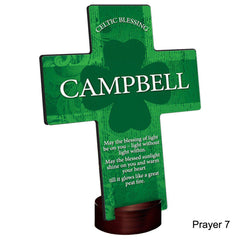 Personalized Irish Blessing Shamrock Cross with Stand -  - Irish Gifts - AGiftPersonalized