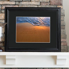 Personalized Sparkling Sands Sign w/Wood Frame -  - Personalized Wall Art - AGiftPersonalized