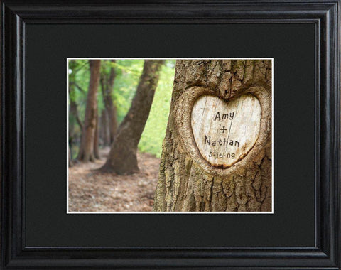 Personalized Tree of Love Sign w/Wood Frame -  - Personalized Wall Art - AGiftPersonalized