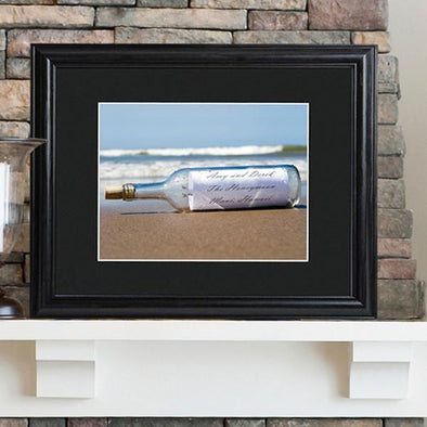 Personalized Message in a Bottle Sign w/Wood Frame -  - JDS