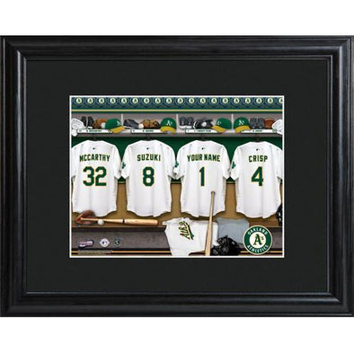 Personalized MLB Clubhouse Sign w/Matted Frame - Athletics -  - JDS