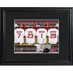 Personalized MLB Clubhouse Sign w/Matted Frame - Cardinals