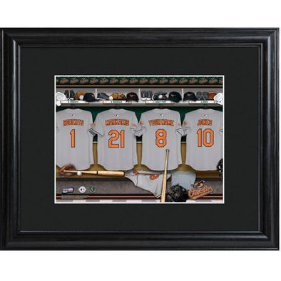 Personalized MLB Clubhouse Sign w/Matted Frame - Orioles -  - JDS