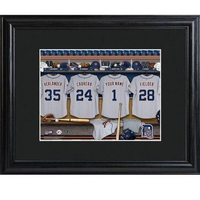Personalized MLB Clubhouse Sign w/Matted Frame - Tigers -  - JDS