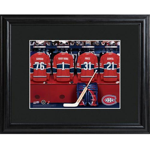 Personalized NHL Locker Room Sign w/Matted Frame - Canadians -  - Professional Sports Gifts - AGiftPersonalized