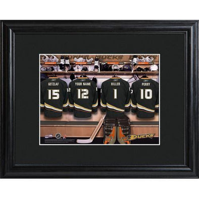 Personalized NHL Locker Room Sign w/Matted Frame - Ducks -  - JDS