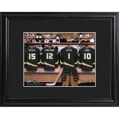Personalized NHL Locker Room Sign w/Matted Frame - Ducks